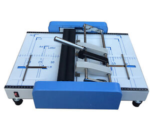 Manual Booklet Making Machine, A3 Paper Binding and Folding Booklet Maker 220V