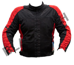BLACK ASH MENS MOTORCYCLE TEXTILE MESH ARMORED JACKET