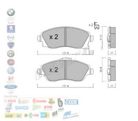 NUOVO SUZUKI SPLASH 1.0 17,4 mm di spessore ORIGINALE COMLINE FRENO ANTERIORE PADS SET