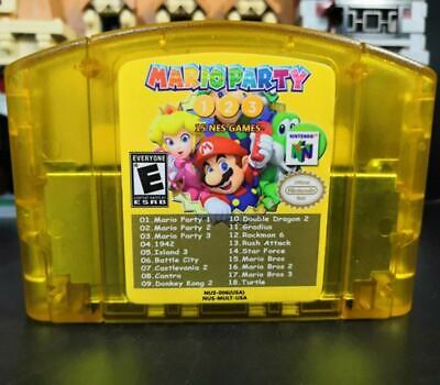 Nintendo N64 18 in 1 Game Card Mario Party 1 2 3 + 15 Classic NES US Edition Top