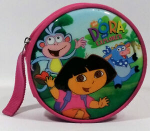 Dora the Explorer CD-DVD Round Holder Case 30 Plus Sleeves