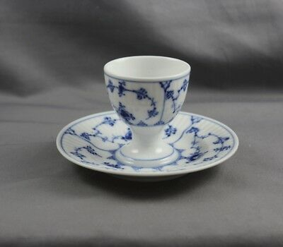 Royal Copenhagen Blue Fluted Plain Egg cup Attached liner (S) #117 1st Quality