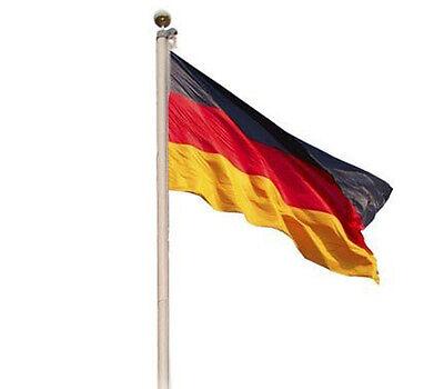 FAHNENMAST FAHNENSTANGE 6,20m ALU FLAGGENMAST FLAGGENSTANGE MAST FAHNE SEILZUG