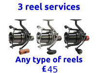 Reel Servicing For 3 Reels, Carp Coarse, Sea, Drop off & Collect Stretford /Manchester M32