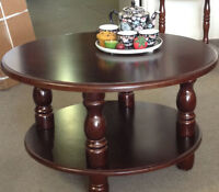 Coffee table.Wooden round  ,new