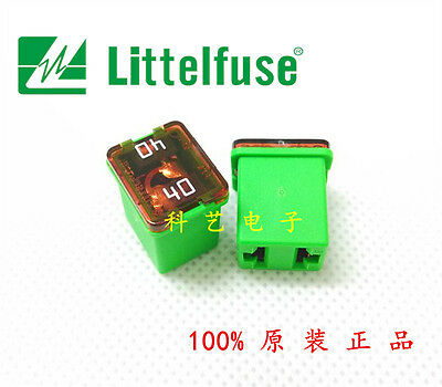 1PCS Littelfuse 0895040 JCase Cartridge Fuse 40 Amp 58V, Green housing #QW40 ZX Littelfuse Cartridge Fuse
