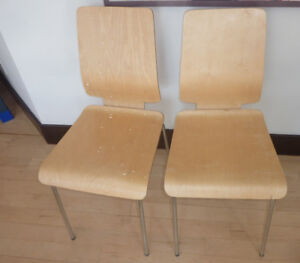 2 dining chairs, $ 10 for both