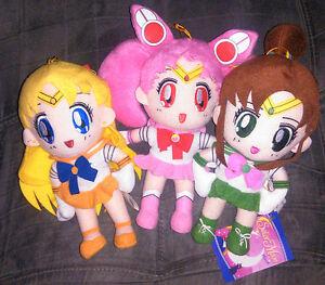 Great Eastern Sailor Moon Plush Dolls - Venus, Jupiter, Chibi