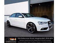 Stunning White Audi A4 TDI 2013 Black Edition Style (Not Audi A5, A6, BMW 320D, 330D, 530D etc)