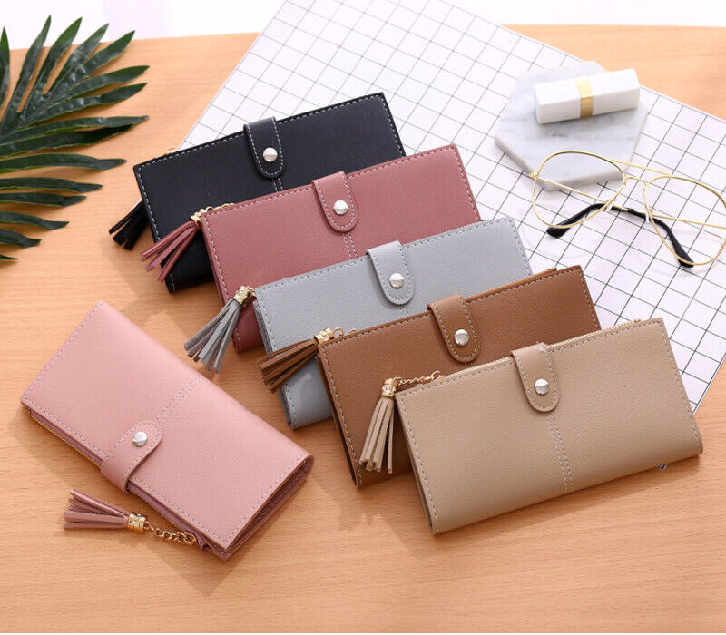 Womens Long Wallet Faux Leather RFID Blocking Purse Credit Card Clutch Handbag Clothing, Shoes & Accessories