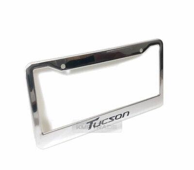License Plate Stainless Steel Chrome Frame Black Logo for HYUNDAI 05-2020 Tucson