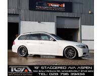 "19"" Staggered AVA Aspen on tyres for an E90, E91, E92, E93 BMW 3 Series, Vauxhall Insignia ETC"