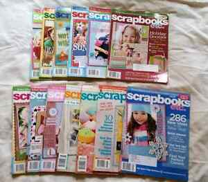 Collection of Scrapbooking Magazines & books