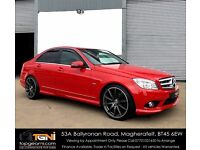 Stunning Mercedes C-Class AMG Sport CDI in Bright Red (Not A4, A6, Passat, Lexus, Golf, Jetta etc)