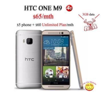 New Unlocked HTC ONE M9 GOLD on SILVER $65/mth Australian Stock Auburn Auburn Area Preview