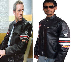 House MD - Dr. Gregory - Biker jacket , FAUX Leather, All Sizes, Expedite Ship