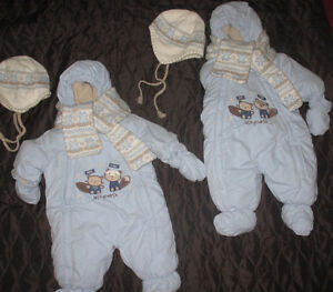 TWINS? 2 snowsuits by Genevieve Lapierre Collection