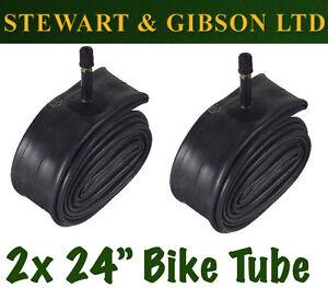 2 x IGNITE 24 INCH INNER BICYCLE TUBE TUBES 1.75 - 2.125 MOUNTAIN BIKE SCHRADER