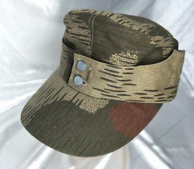 WWII GERMAN ARMY  ELITE M43 SWAMP CAMO FIELD CAP MILITARY HAT SIZE XL for sale  China