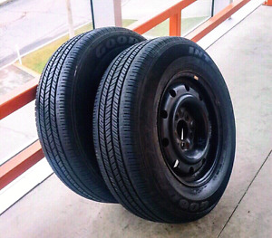 Set of two 205/70/15,215/60/16,205/65/16 all season tires