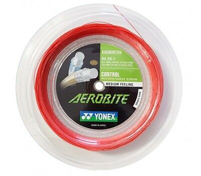 Yonex Aerobite 200 m Rolle Badminton Schläger Saite weiß rot NEU WOW