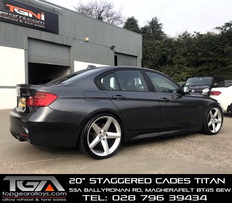 """20"""" Staggered Cades Titan on tyres for a, F10, F11, F30 and F31 BMW 3 & 5 Series"""