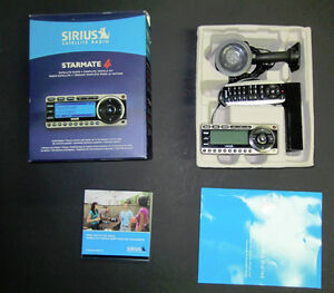 Sirius Starmate 4,install kit, a home kit adapter and BoomBox