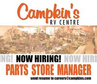 Retail RV Accessory & Parts Store Manager