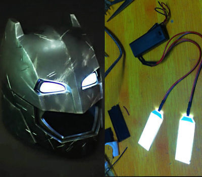 DIY 1:1 Led Light Eyes Batman Ironman Black Panther Helmet  Eye Mask Fitting HOT](Diy Batman)