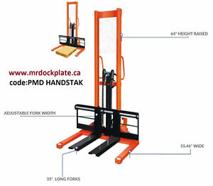 Manual hydraulic lift table hydraulic stacker hand pump truck