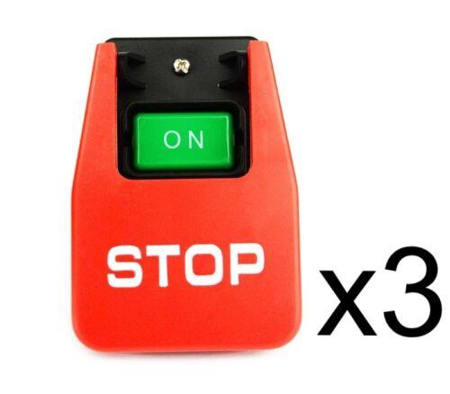 (3) Emergency Shutoff 110/220 Volt Paddle On/off Switch T...