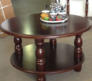 Coffee table.Wooden round , new in  box