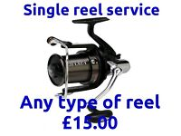 Reel Servicing For 1 Reel, Carp Coarse, Sea, Drop off & Collect Stretford /Manchester M32
