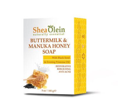 Evening Primrose Oil Soap - SheaOlein Buttermilk & Manuka Honey Soap with Black Seed & Evening Primrose Oil