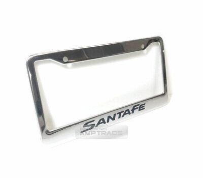 License Plate Stainless Chrome Frame Black Logo for Hyundai 2006-2012 Santa fe