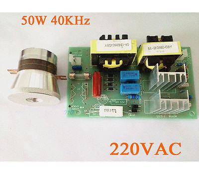 Ac 220v 100w 40khz Ultrasonic Cleaning Power Driver Board 50w 40k Transducer