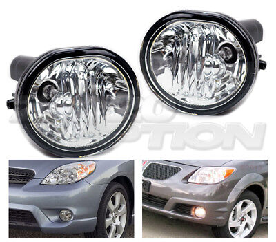 OE STYLE FOG LIGHTS PAIR CLEAR LENS LAMPS FOR 03-08 TOYOTA MATRIX PONTIAC VIBE