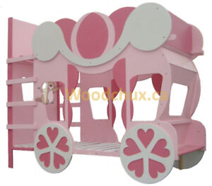 CINDERELLA CARRIAGE Twin over Twin BUNK BED . . ♥‿♥