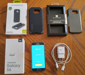 Samsung Galaxy S6 32G Saphire Black - Locked to MTS