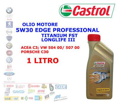 1 LT OLIO MOTORE 5W30 CASTROL EDGE PROFESSIONAL LONGLIFE 3 TITANIUM FST ACEA C3