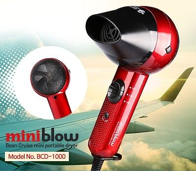 [Bean Cruise] Hair Dryer Travel / Portable Mini-Dryer  110v 220v compatible