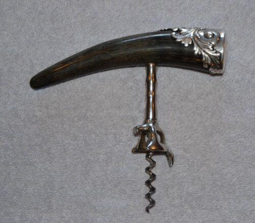 Silver and Buffalo Horn Corkscrew Wine Bottle Opener