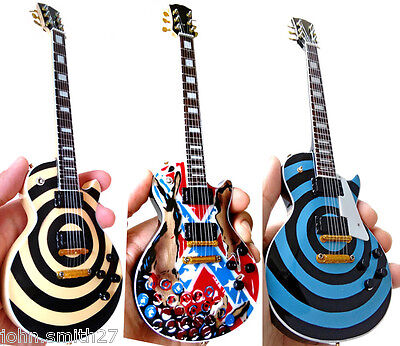 Zakk Wylde Black Label Society Set of 3 Bullseye C B and Flag Miniature Guitar for sale  Shipping to Canada