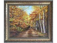 Autumns Afternoon Stroll (1994) by Olive Coker (Original Oil Painting)