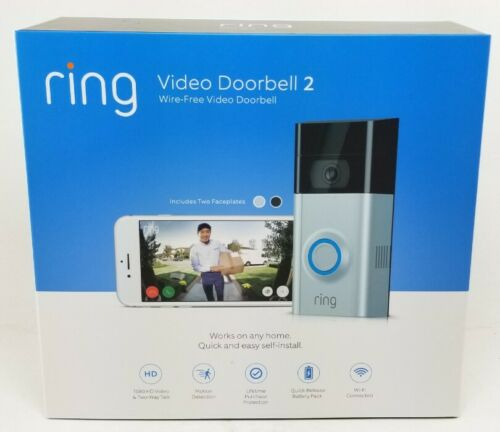Brand New Ring Video Doorbell 2 Newest Version Satin Nickel/