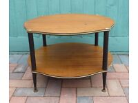 1960's Brown Round Wood coffee/Side Table, Vintage, Retro, Shabby Chic