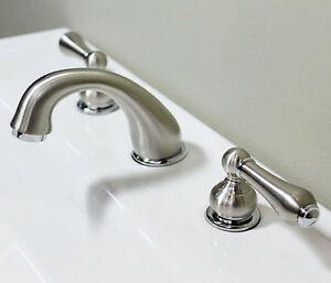 4 Inch Spread Bathroom Faucets : inch-spread-brushed-nickel-Bathroom-Widespread-bath-lavatory-faucets ...