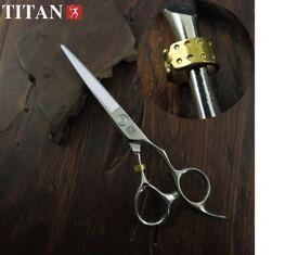 "Titan Professional Offset Scissors Barber Hair Cutting Hairdressing 6"""