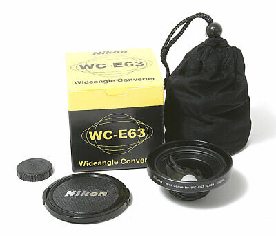 NIKON WIDEANGLE CONVERTER WC-E63 FOR COOLPIX/100427, used for sale  Shipping to India
