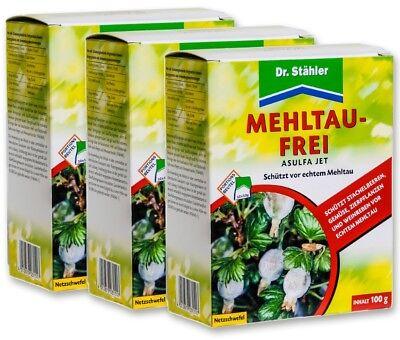 3 x 100 g Mehltau Frei Asulfa Jet Sparpack Netzschwefel 30 x 10 g